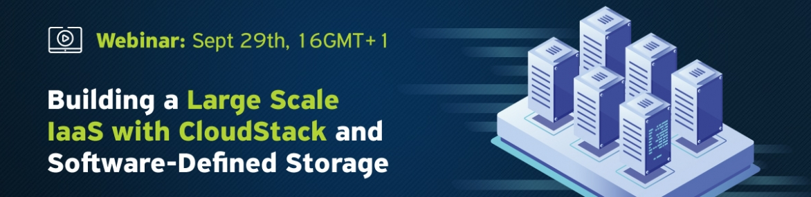 Building a Large Scale IaaS with CloudStack and Software-Defined Storage