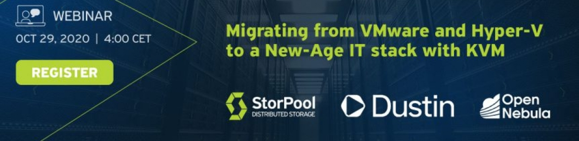 Webinar: Migrating from VMware and Hyper-V to a New-Age IT stack with KVM
